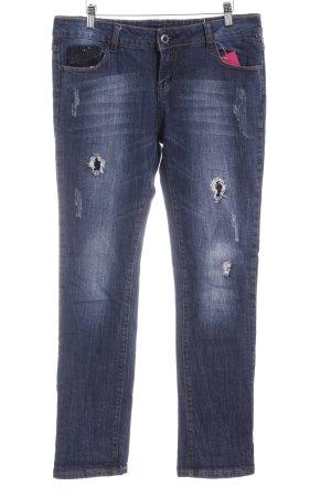 Jeans slim fit blu stile casual