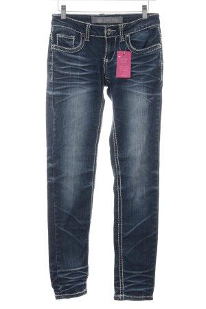 Jeans slim bleu foncé style décontracté