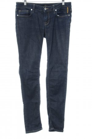 Slim Jeans dunkelblau meliert Casual-Look