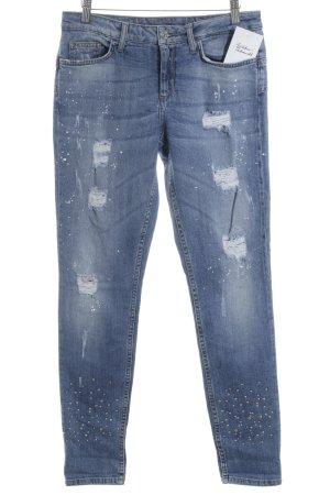 Liu jo Slim Jeans himmelblau Destroy-Optik