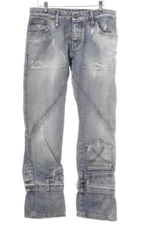Slim Jeans himmelblau Used-Optik