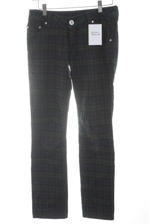 Slim Jeans Karomuster Casual-Look