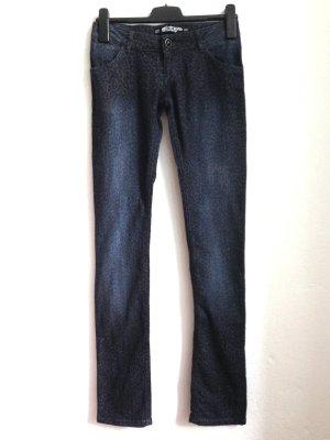 Slim Jeans mit Animal Print von Zara, Gr. 36, ungetragen