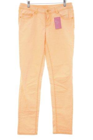 Slim Jeans neon orange casual look
