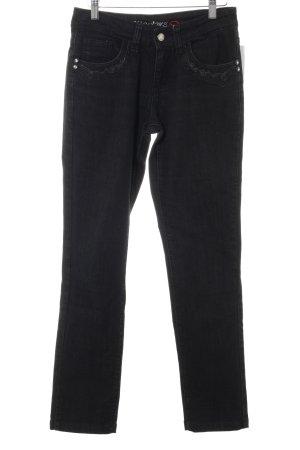 Slim Jeans schwarz Street-Fashion-Look