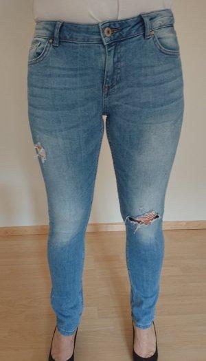 Review Jeans slim bleu acier coton