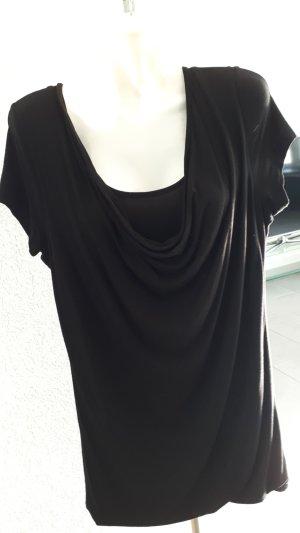 Camisa larga negro Algodón