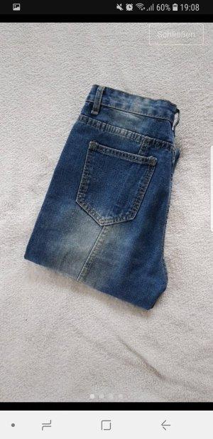 SheIn Slim Jeans dark blue-steel blue