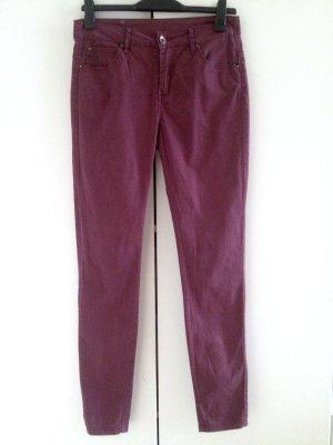 Slim Pants Selected Femme, Gr. 40, bordeauxrot
