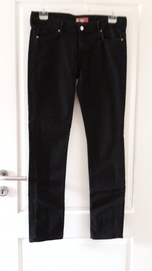 Slim Stretch-Jeans in schwarz, Gr. 30 von H&M