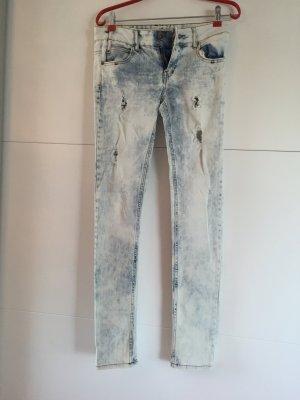 Slim Zara premium wash Denim Jeans destroyed Gr. 34