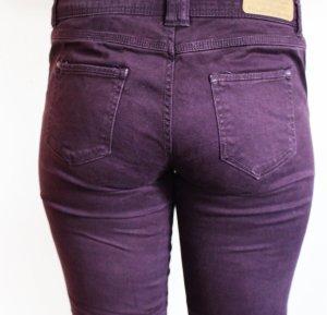 SlimFit-Jeans in lila