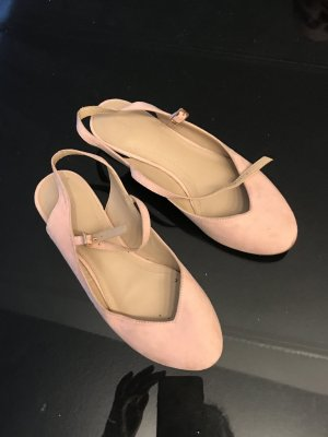 Zara Slingback Ballerinas pink-gold-colored