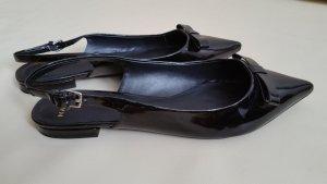 Mango Slingback Ballerinas black imitation leather