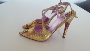 sling pumps gold 38