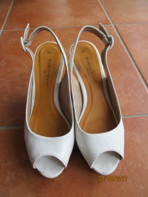 Marco Tozzi Slingback Pumps white synthetic
