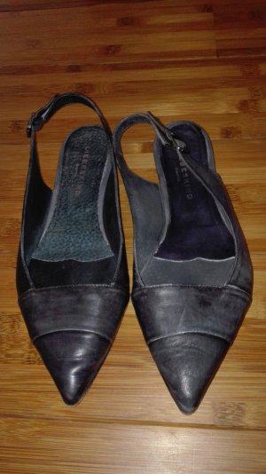 Liebeskind Berlin Slingback Ballerinas dark grey leather