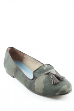 Slingback Ballerinas camouflage pattern casual look