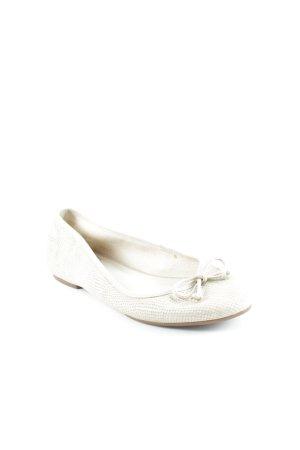 Slingback Ballerinas cream animal pattern elegant