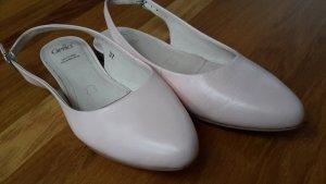 Caprice Ballerine à bride arrière rose clair cuir