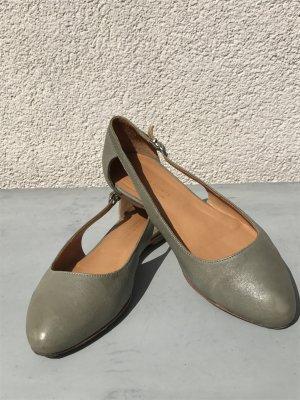 Viola Fonti Milano Ballerine à bride arrière gris-gris clair