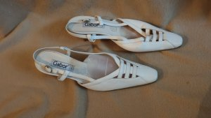 Gabor Slingback Pumps white leather