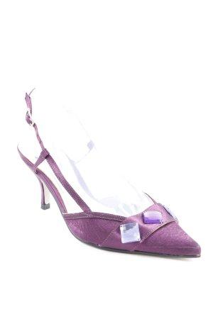 Escarpin à bride arrière violet style extravagant