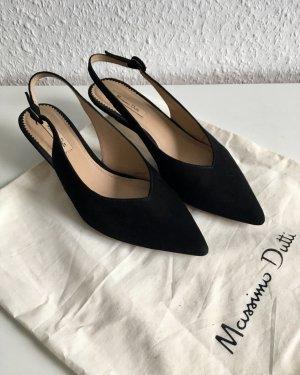 Massimo Dutti Slingback pumps zwart
