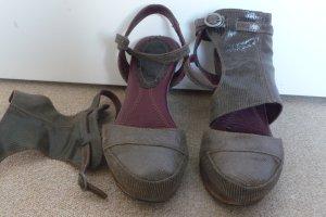 Slingbackpums/ Sandelen/Sandaletten aus Laser graviertem Leder