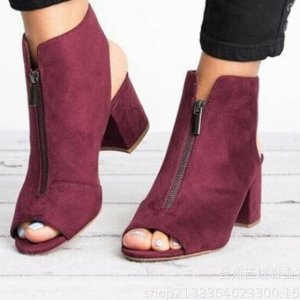 Chaussure à talons carrés multicolore