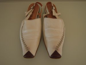 Nic Dean Slingback Pumps natural white-dark brown leather