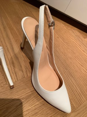 Slingback Pumps white