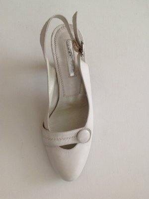 Slingback Pumps white leather