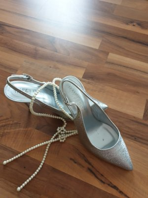 Madeleine thompson Slingback Pumps silver-colored