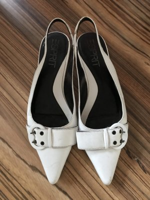 Esprit Slingback Pumps white-black
