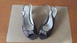 Graceland Sandalen met bandjes en hoge hakken antraciet