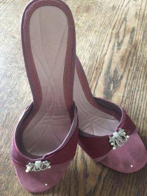 Clarks Sandalo con tacco color oro rosa-bordeaux