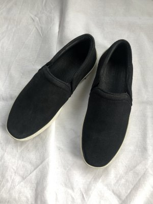 Slip On Sneakers Wildleder schwarz