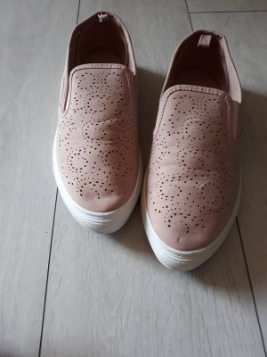 Graceland Pantoffels stoffig roze