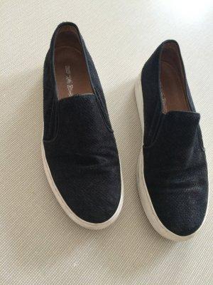 Slip-ons, schwarz, Kauf dich Glücklich, Sommer, perforiertes Leder, 39