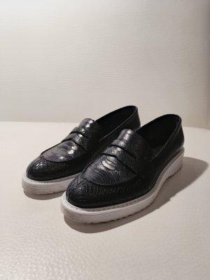 Laurèl Flats negro-azul oscuro