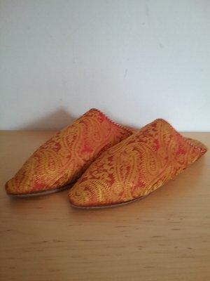 Pantoffels goud Oranje-donker oranje