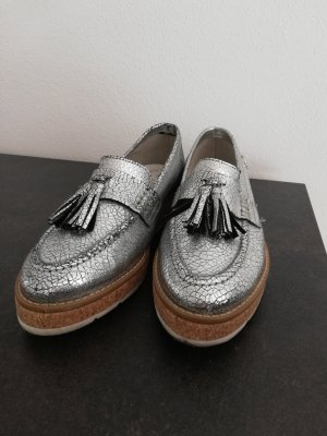 s.Oliver Slippers silver-colored
