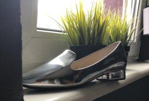 Zara Moccasins silver-colored-light grey