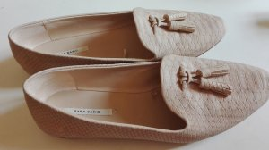Slipper altrosa rose Schlangenleder Animal Zara