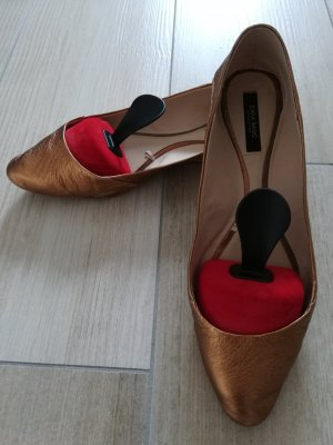 Zara Ballerinas with Toecap bronze-colored
