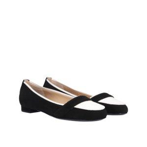 Escada Zapatos formales sin cordones blanco-negro