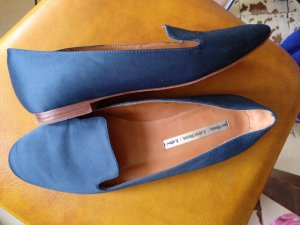 & other stories Slip-on Shoes steel blue leather