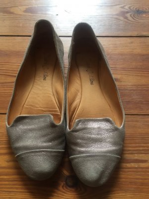 Slipper/ Ballerinas von Riccardo Cartillone, gold-braun, Echtleder, Gr. 37, NP 120€