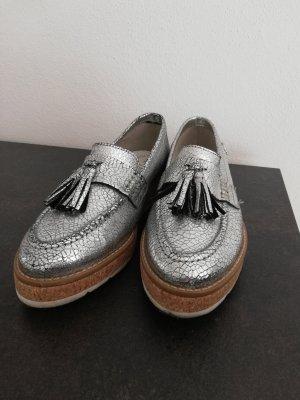 s.Oliver Zapatos formales sin cordones color plata